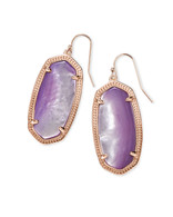 Kendra Scott Elle Earring Rose Gold Tone/Lilac Mother of Pearl