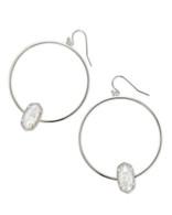 Kendra Scott Elora Earring Rhodium/Ivory Mother of Pearl