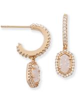 Kendra Scott Cale Earrings Rose Gold/ Iridescent Drusy