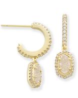 Kendra Scott Cale Earrings Gold/ Iridesent Drusy