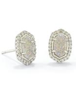 Kendra Scott Cade Earrings Rhodium/ Iridescent Drusy