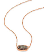 Elisa Pendant Necklace in Crystal Gray Illusion