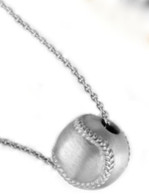 Sterling Silver Baseball Necklace