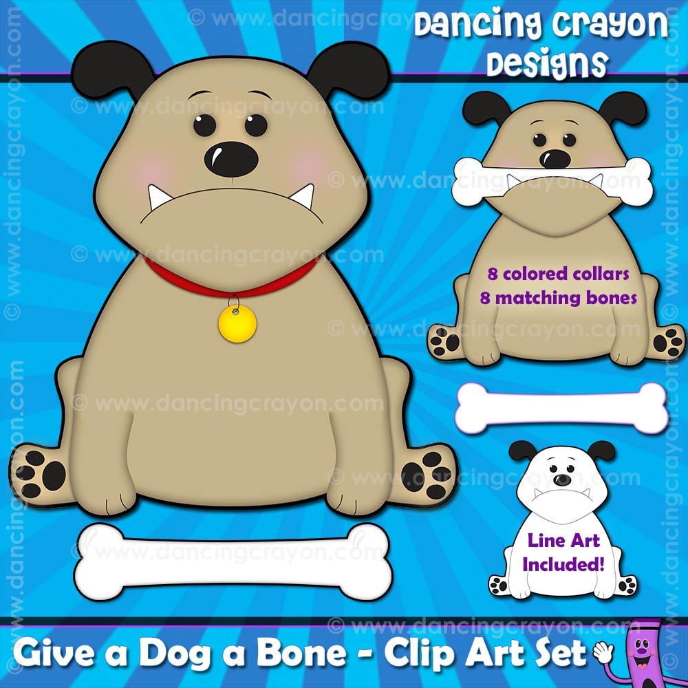 dog and bone clipart