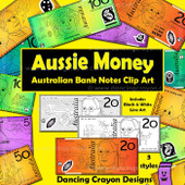 Australian money clipart: notes