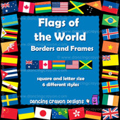Flags of the world borders and frames