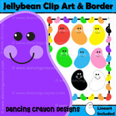 Colorful jellybean clipart set
