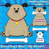 Give a dog a bone clipart set