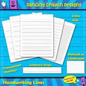FREE Handwriting lines, sentence strips, writing lines transparent overlay