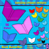 Book butterfly clipart
