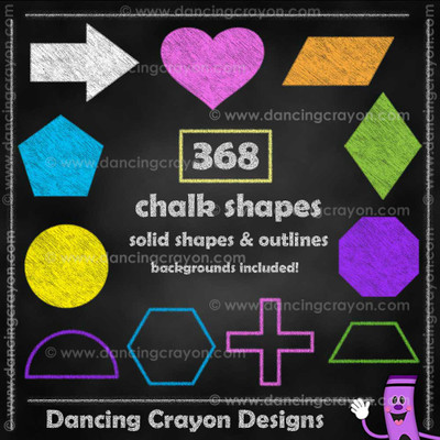 Chalk shapes clipart