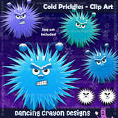 Cold pricklies - clip art set