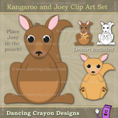 Kangaroo clipart and Joey kangaroo clipart