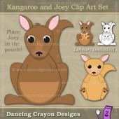 Kangaroo clipart and Joey kangaroo clipart