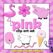 Pink clipart - things that are pink color