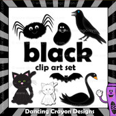 Black clipart - things that are black