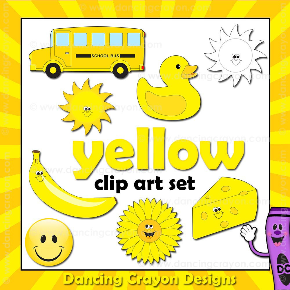 Yellow Clip Art Things That Are Yellow Color on I See The Color Orange 2 Worksheet