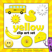 Yellow clipart - things that are yellow color