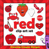 Red clipart - things that are red