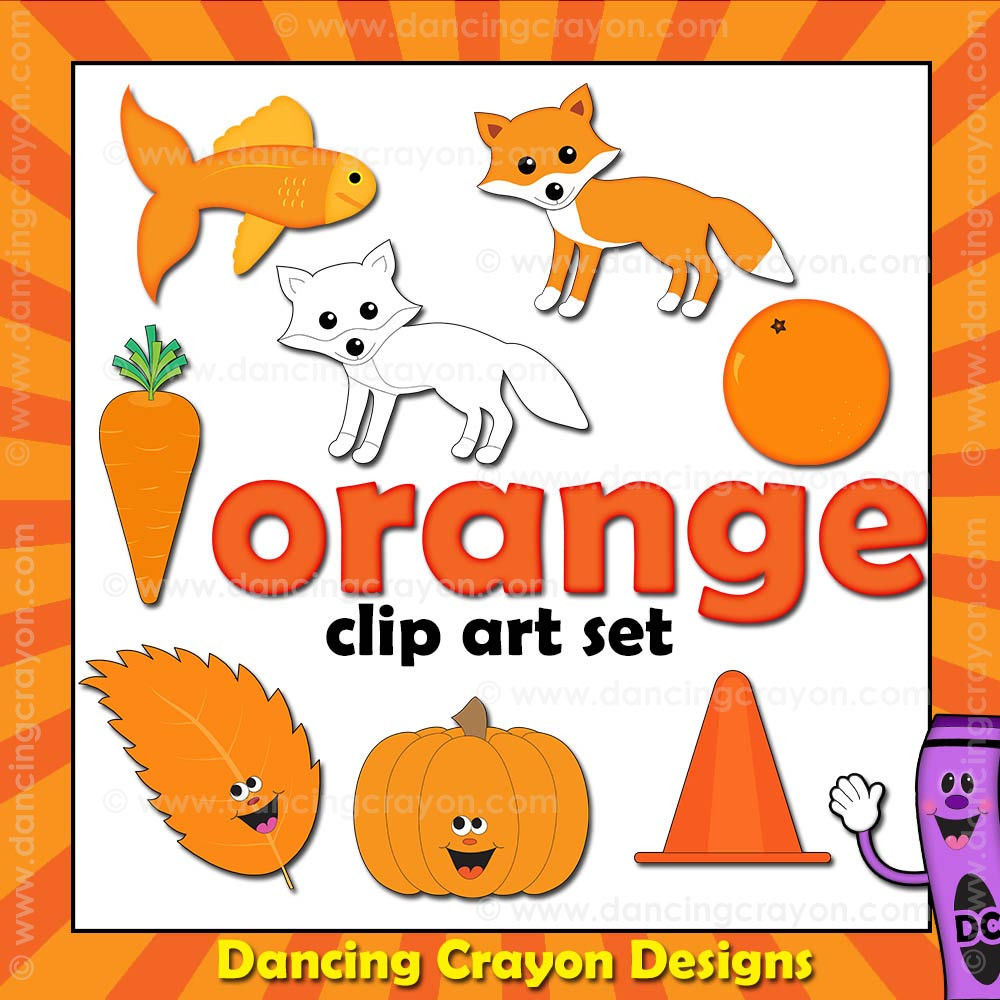 orange clipart things that are orange color