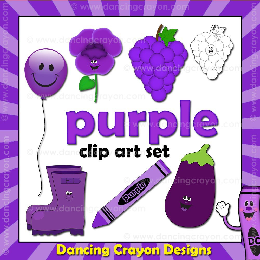 Purple Clip Art - Things that are Purple Color
