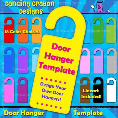 4 25 x 11 door hanger template - door knob hanger template