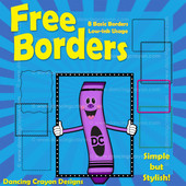 FREE Borders: Sample Pack of Basic Borders Clip Art
