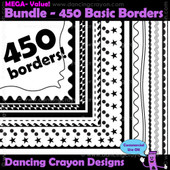 Borders and Frames: Basic Borders Mega-Bundle