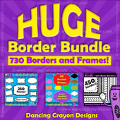 borders and frames: huge border clip art bundle