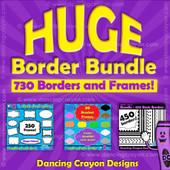 borders and frames: huge border clip art bundle