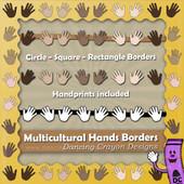 Borders: Multicultural Hand Print Borders
