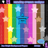 Backgrounds: Star Pattern Digital Papers with Star Clip Art