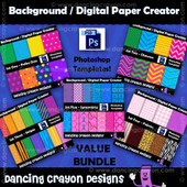 Digital paper templates - Photoshop templates