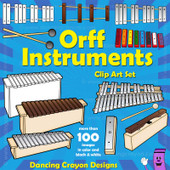 Orff Instruments Clip Art