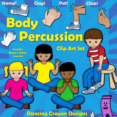 Body Percussion Clip Art: Music Education