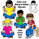 Body Percussion Clip Art: Clap, Stamp, Click, Pat