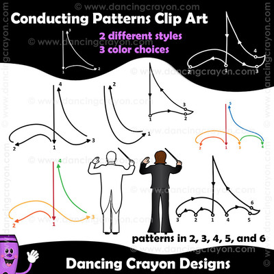 Conducting Patterns Clip Art Images
