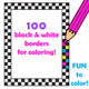 Coloring in page borders.