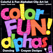 Colorful clipart letters