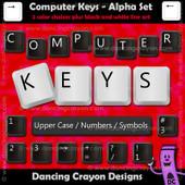 Alphabet clipart - computer key alphas