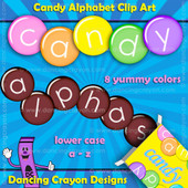 alphabet candy clipart