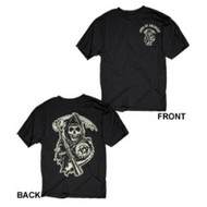 Sons of Anarchy Two Sided Classic Reaper Logo T-shirt