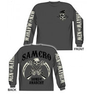 Samcro Men Of Mayhem Sons Of Anarchy Long Sleeve Adult T-shirt