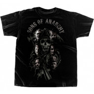 Sons of Anarchy Charging Reaper Cast Blend T-shirt