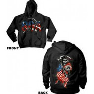 Sons Of Anarchy American Flag Full Zip Hoodie Sweatshirt