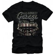 Gas Monkey Garage Flag Filled Adult T-shirt