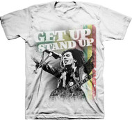Bob Marley Get Up Stand Up Adult T-shirt