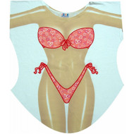 Hearts Bikini Cover up T-shirt Lady's Fun Wear