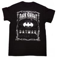 Batman The Dark Knight Scroll Adult T-Shirt