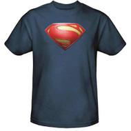 Superman Man of Steel Shield Adult T-Shirt